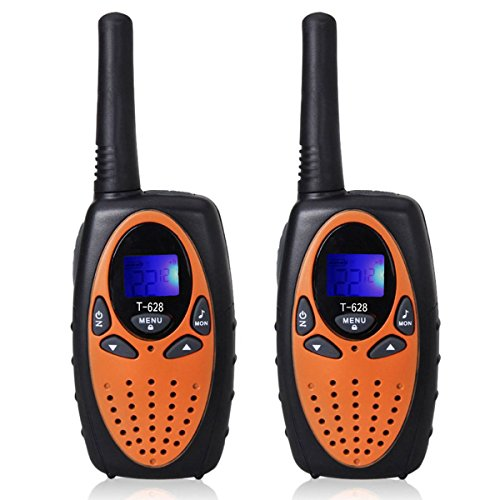 DIMY Walkie Talkies for Kids Boys Girls, Long Range Walkie Talkies for Kids Christmas Brithday Gifts for Boys Age 5-12 Popular Toys for 5-14 Year Old Boys Orange T6285 ()