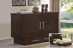 Arason Enterprises Creden-ZzZ Cabinet Bed in Original Coffee - Queen Size
