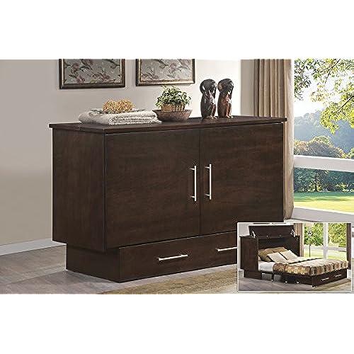 murphy bed for sale. Arason Enterprises Creden-ZzZ Cabinet Bed In Original Coffee - Queen Size Murphy For Sale