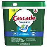 #4: Cascade Complete ActionPacs Dishwasher Detergent, Fresh Scent, 78 Count