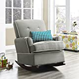 Baby Relax The Tinsley Nursery Glider Chair, Grey