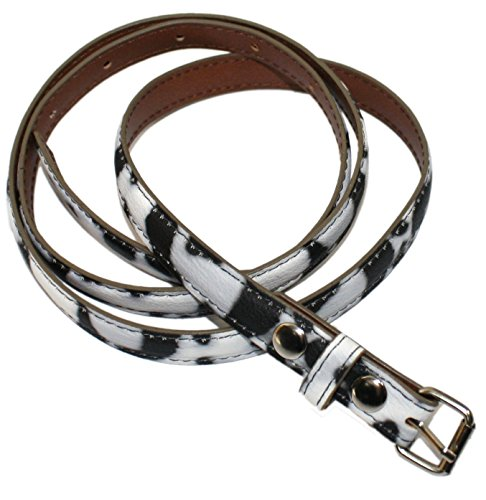 Ted and Jack - Ted's Classic Animal Print Skinny Leather Look Belt (Classic Look Classic Belt)