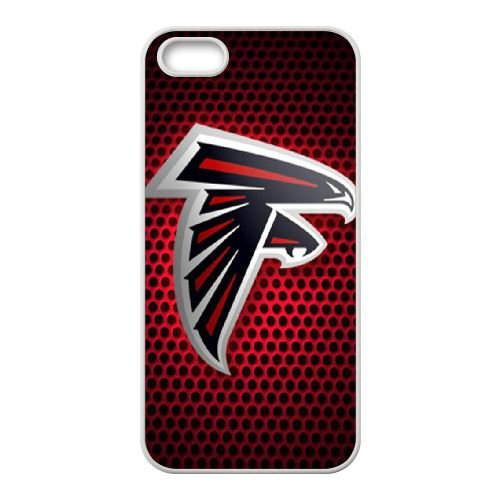 Atlanta Falcons Team Logo coque iPhone 5 5S Housse Blanc téléphone portable couverture de cas coque EBDOBCKCO14454