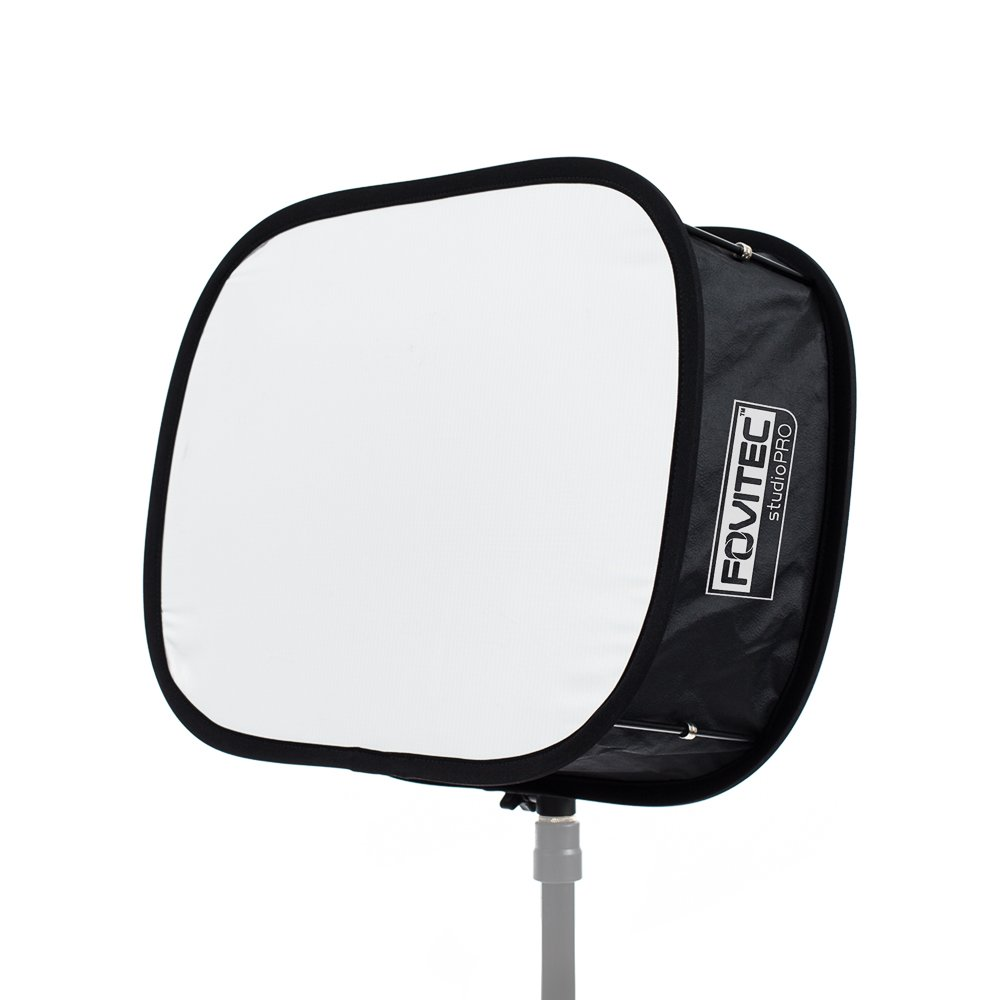 Fovitec - 1x JL650 LED Softbox w/Carrying Case - [Softens Light][Removes Shadows][Reduces Overexposure][Collapsible Frame][Ideal Travel]