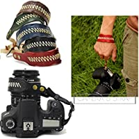 Nicad Camera Leather Wrist Strap Comfort Padding, Enhanced Hand Grip Stability and Security for All DSLR Cameras Canon Nikon Pentax Olympus Fujifilm X100F X-T20 X-T2 X70 X-Pro2 ,Sony A6000 A630(Black)