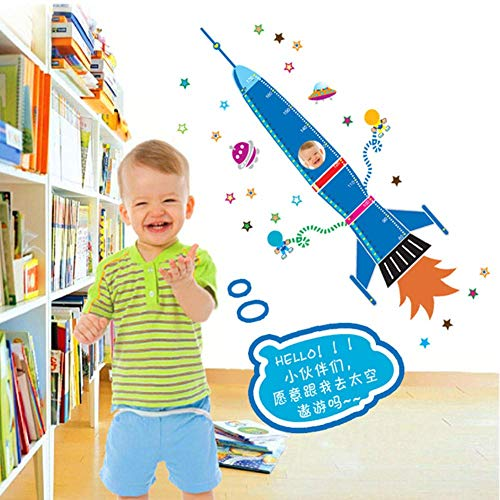 velocidad Wall Art Decals Stickers Wall Quote Wall Sticker The Cartoon Rocket Bedroom of Children Room Foreign Trade Waterproof Wall Stickers - Foreign Accents Furniture