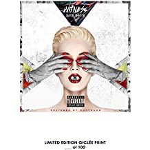 RARE POSTER thick KATY PERRY: WITNESS music 2017 giclee COVER REPRINT #'d/100!! 12x18