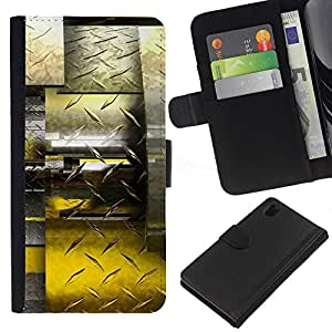 All Phone Most Case / Oferta Especial Cáscara Funda de cuero Monedero Cubierta de proteccion Caso / Wallet Case for Sony Xperia Z1 L39 // Abstract Diamond Steel