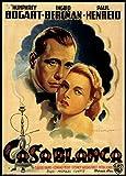 Casablanca Fridge Magnet 2.5 x 3.5 Humphrey Bogart Movie Poster Magnetic Canvas Print