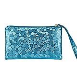 Pocciol So Fashion Women Coins Change Purse Clutch Zipper Zero Wallet Phone Key Bags (Blue)