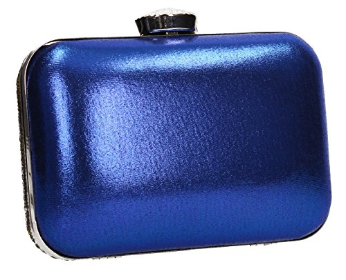Womens Two Prom Blue Party Diamante SWANKYSWANS Box Jane Wedding Clutch Tone Bag IF75Rq