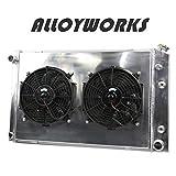 #6: ALLOYWORKS 3 Row Aluminum Radiator Fan Shroud Kit for Chevy C/K Series Trucks 1973-1991 Pickup Trucks 1973-1987