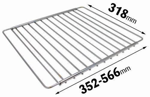 Universal Gitter/-Ablagefach, verchromt, verstellbar, für Kühlschrank/Gefrierschrank Qualtex