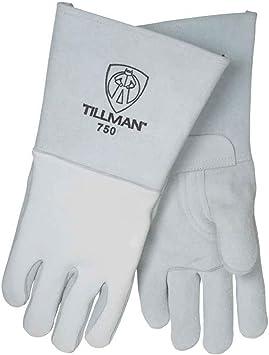 X-Large Tillman 875 Onyx All Black Premium Top Grain Elkskin Welding Gloves