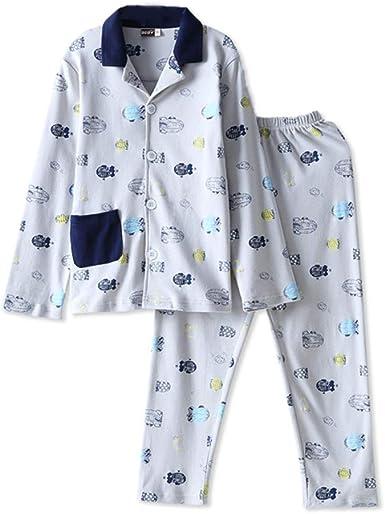 Niño Conjunto de Pijama Ropa de Dormir Manga Larga de Algodón para Niños Niñas: Amazon.es: Ropa y accesorios