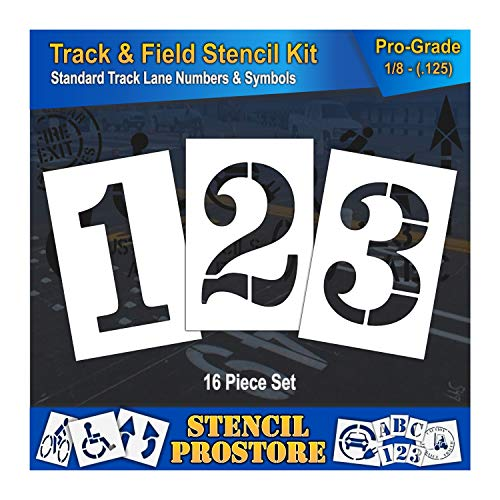 - Athletic Marking Stencils - 36 inch - Track and Field Complete Stencil Set - (16 Piece) - 36