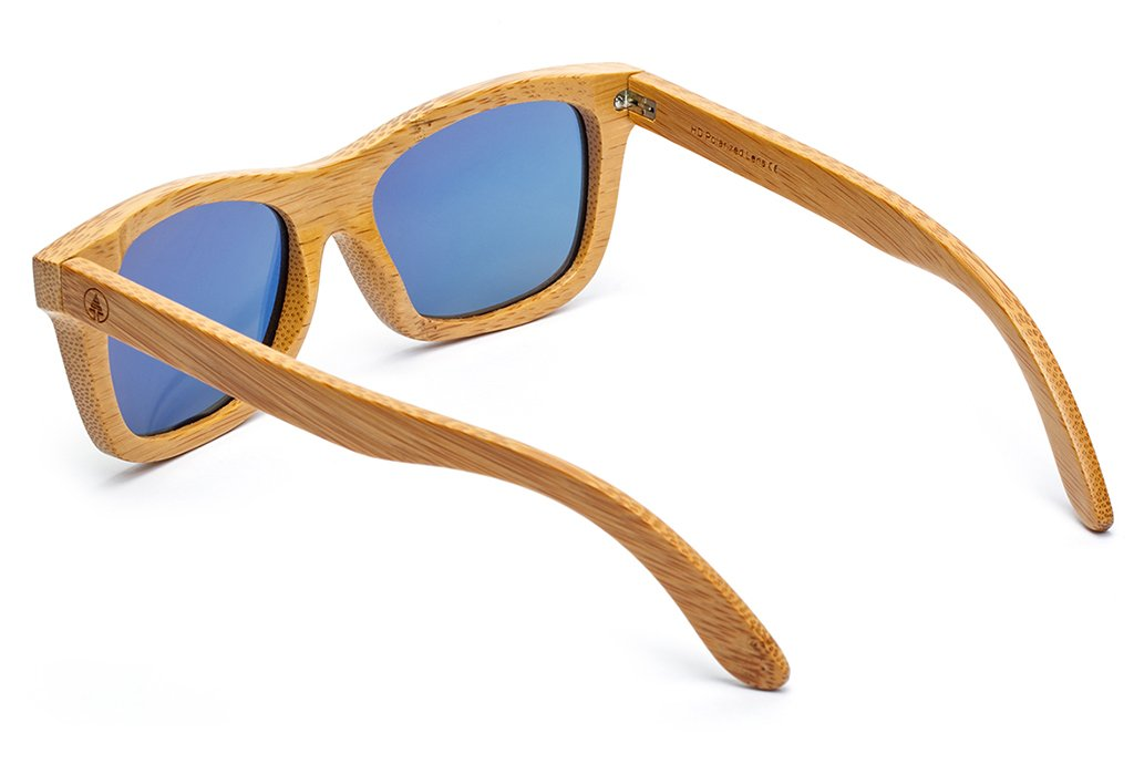 fca9ae1b1b1 Amazon.com  Tree Tribe Floating Bamboo Sunglasses with Polarized Lens -  Mirror Orange Lens  Sports   Outdoors
