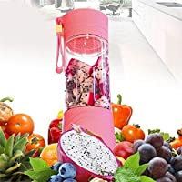 Nau Mart Instant Juicer Mixer Grinder Portable Easy to Carry USB Powered,Rechargeable Small Lightweight Carry Anywhere Anytime Fruit, Vegtable Juice Maker Cum Drinking Bottle(Free USB LED)