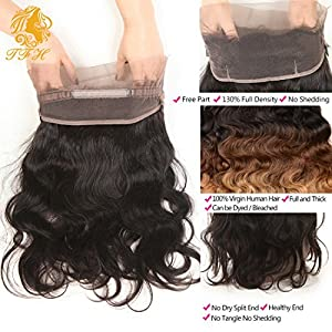 Pre Plucked 360 Lace Frontal Closure 10 inch Brazilian Hair Body Wave Natural Hairline 360 Frontal Lace Closure with Baby Hair