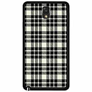 Black and White Plaid- TPU RUBBER SILICONE Phone Case Back Cover Samsung Galaxy Note III 3 N9002