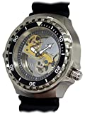 German Tauchmeister Diver watch automatic open Sapphire glass design T0310