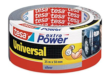 Super Tesa extra Power Duct Tape - Grey/Silver Waterproof Gaffer Tape ZY15