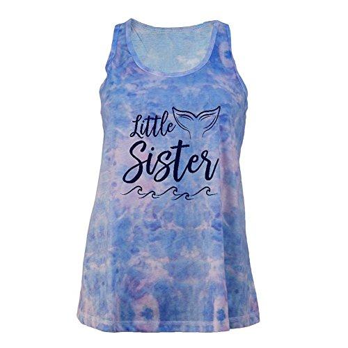 Old Glory Little Sister Mermaid Tail Ocean Juniors Tie Dye Tank Top Multi LG
