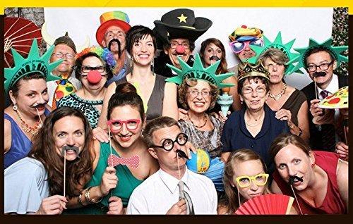 Losuya 2019 Anno Nuovo Partito Photo Booth Puntelli 46pcs Divertente Kit Fai da Te Puntelli Photobooth per Capodanno Eve Decorazione del Partito Favore