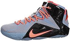 online retailer db429 31498 Nike Lebron XII Mens Basketball Shoes 684593-488 Aluminum Hot Lava-Blac…