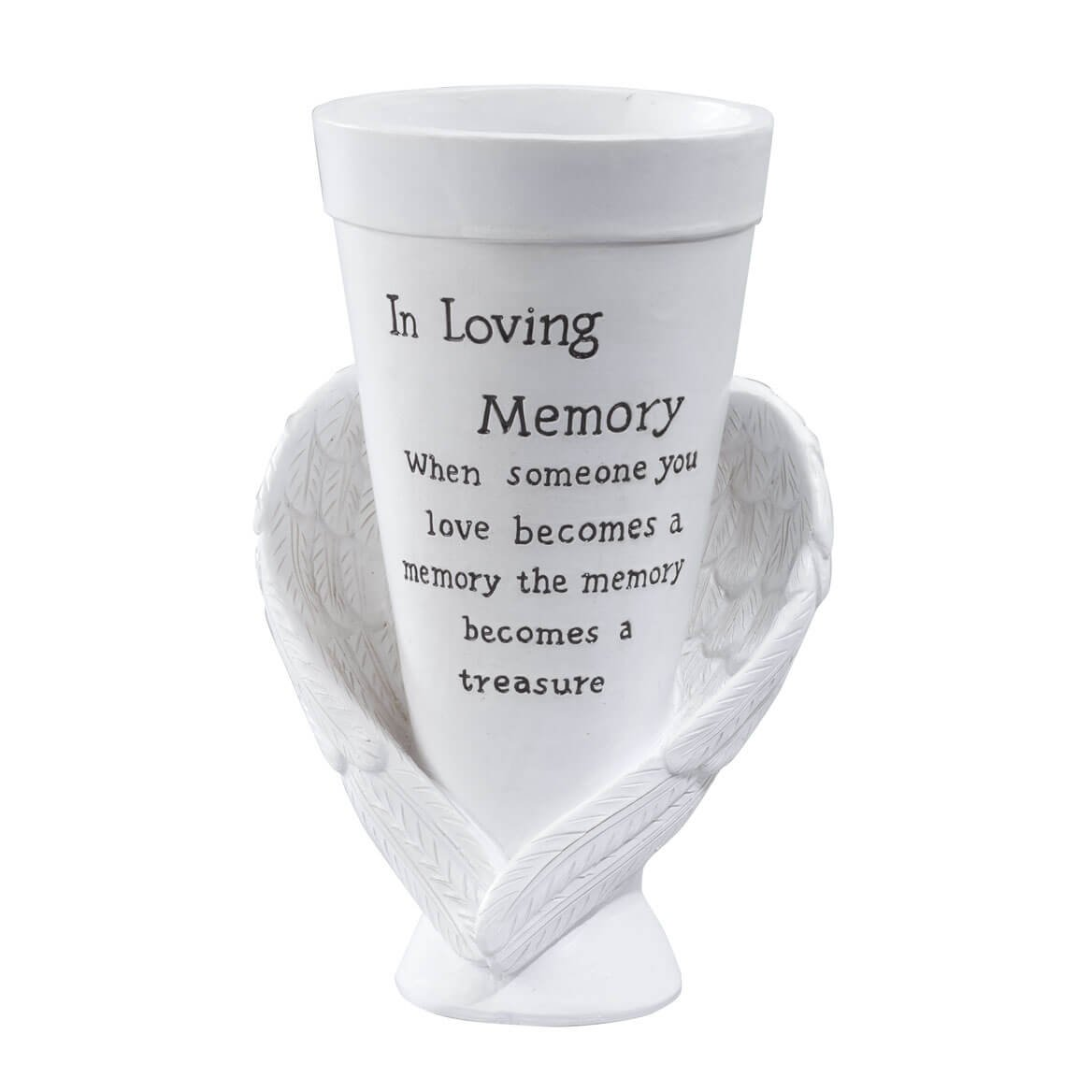 Miles Kimball Resin Memorial Cemetery Vase by Maple Lane Creations