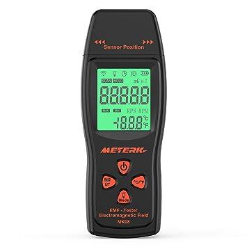 MTSBW EMF medidor portátil Mini Digital LCD EMF Detector Campo de radiación analizador dosímetro Tester Contador: Amazon.es: Deportes y aire libre