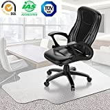 Desk Chair Mat for Carpet - Vinyl Floor Protector for Low-Pile Carpets,Non-Slip Bottom, Home, Office, Computer.