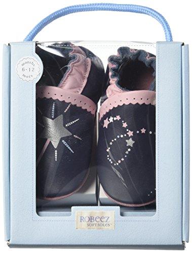 Robeez Nice Wish - Zapatillas de casa Bebé-Niñas Azul Marino