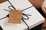 Gift Tags - 200-Pack Kraft Paper