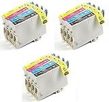 12 Pack Aria Supplies Remanufactured Inkjet Cartridges for Epson T060#60 T060120 T060220 T060320 T060420 Compatible With Stylus C68, C88, C88Plus, CX3800, CX3810, CX4200, CX4800, CX5800F, CX7800
