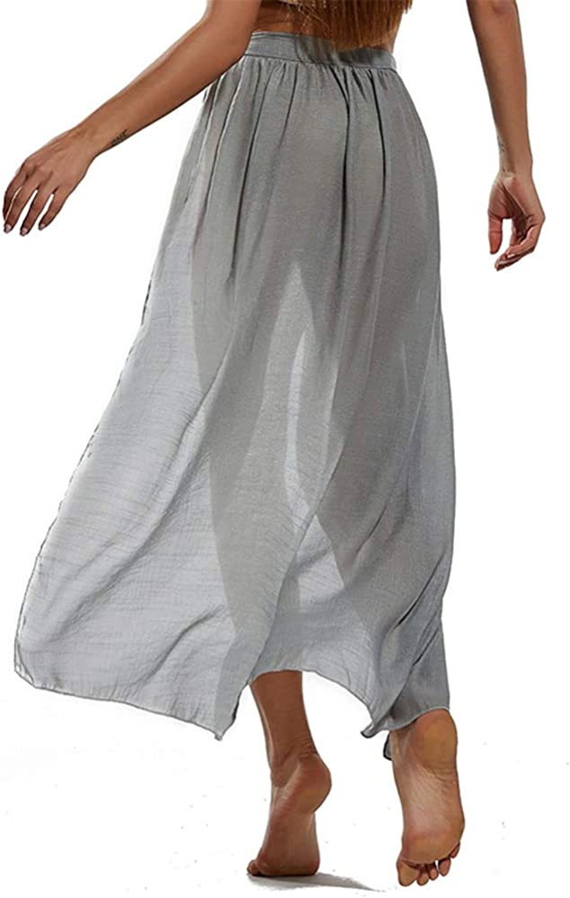 Beach Sarong Women Swimwear Pareo Bikini Cover Up Wrap Kaftan Skirt
