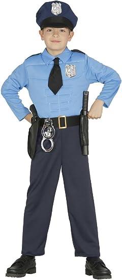 Guirca - Disfraz de Policía, talla 3-4 años, color azul (85894 ...