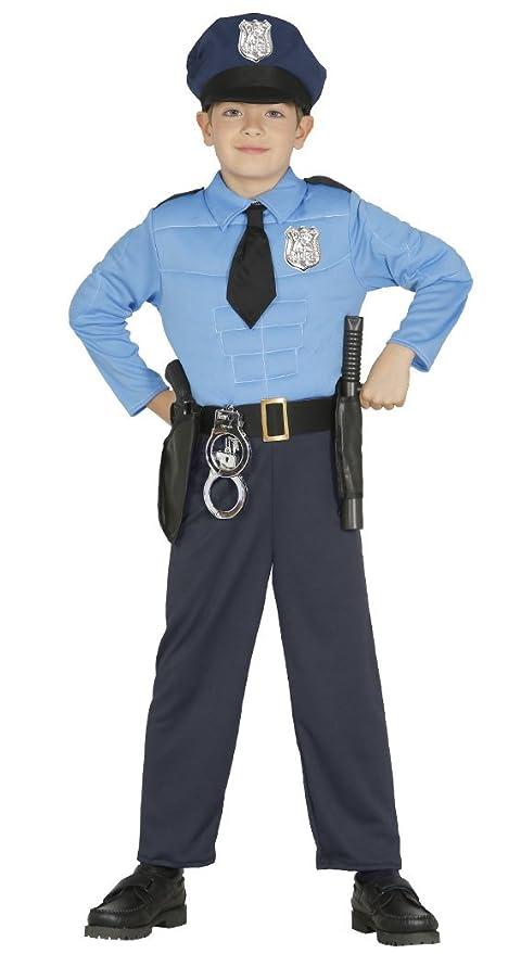Guirca - Disfraz de Policía, talla 3-4 años, color azul (85894)