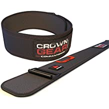 Weightlifting Belt for Gym Fitness Bodybuilding - Crown Gear COMMANDER 4-Inch Weight Lifting Belt for Back Support