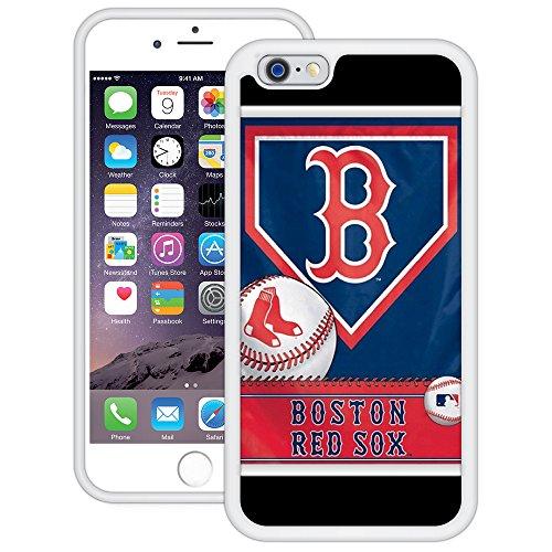 Boston Red Sox   Handgefertigt   iPhone 6 6s (4,7')   Weiß TPU Hülle