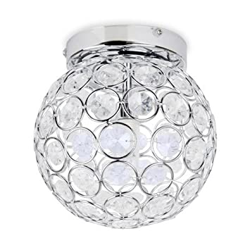 modern round chrome u0026 clear acrylic ip44 rated bathroom ceiling light