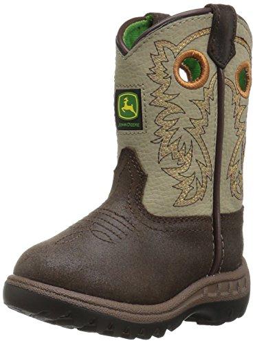 John Deere Baby Jd1417-1 Western Boot, Brown, 5 Medium US Toddler