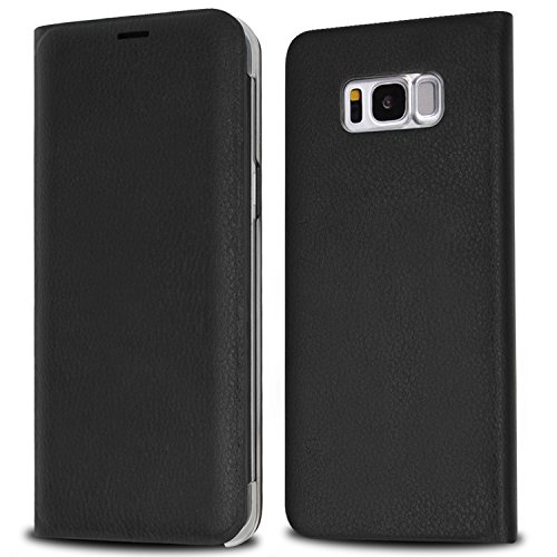 Galaxy S8 Case, IMABAO Premium Protective Leather Durable Handmade Samsung Galaxy S8 Wallet Case Grade Drop Protection with Card Slot Holder