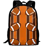 Casual Large College School Daypack, Laptop Outdoor Backpack, Travel Hiking& Camping Rucksack Pack For Cleveland Browns Fabric 4287(3887) Print Mode