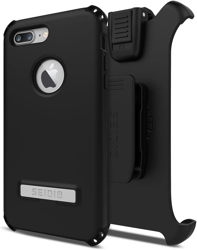 Amazon Com Seidio Dilex Case And Holster Combo With Kickstand For Apple Iphone 7 Plus And Iphone 8 Plus Black Black