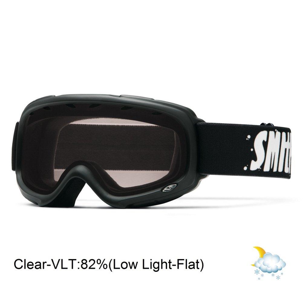 9f6e80f280 Amazon.com   Smith Optics Gambler Junior Series Winter Sport Snowmobile  Goggles Eyewear - Black Clear One Size   Sports   Outdoors
