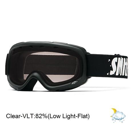 8061c809ec Smith Optics Gambler Junior Series Winter Sport Snowmobile Goggles Eyewear  - Black Clear One