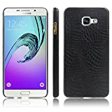 Samsung A510F A5100 A5 (2016) Case,Yaker QSQ Super Leather Cover Pc Hard Case Shell Compatible for for Samsung Galaxy A5 (2016) SM-A510F (Black)