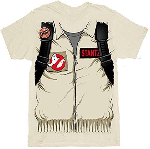 Ghostbusters Executioner Stantz Full Costume with Backpack Print Sand Adult T-shirt Tee (Adult X-Large)