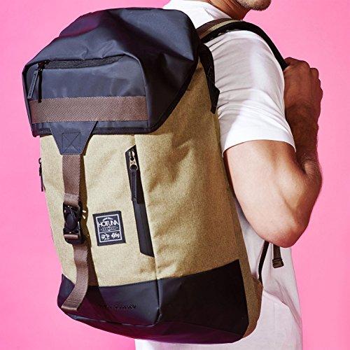 Hot Tuna Outback bolsa verde/Caqui bolsa de bolso, verde y caqui, H: 52cm; W: 38cm; D: 16cm.
